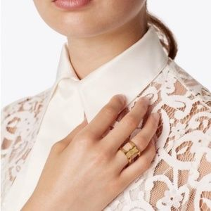 Tory Burch Jewelry - TORY BURCH Gemini Link Wrap Ring Size 6